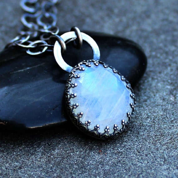 Moonstone Necklace Blue Moonstone Necklace Moonstone