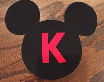Mickey Mouse Iron On Applique, You Choose Fabric