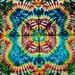 58x40 Medium Tie Dye Tapestry by Emeraldsprings wallhanging handmade Rainbow red blue green yellow item#112314o