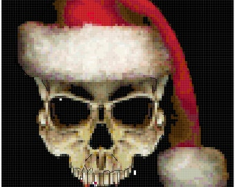 Christmas Skull original Cross Stitch Pattern