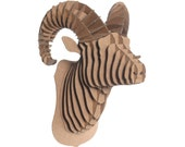 Rocky Jr - Medium Cardboard Ram Head - Brown