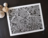 charlotte hand cut map