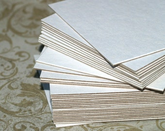 """4"""" White Chipboard Squares (25) ... Heavyweight Cards Blank Cards DIY Banner Art Supplies Craft Supply Thick Cardstock Recycled Eco Friendly"""