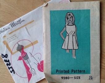 Vintage Girls Dress Marian Martin Sewing Pattern 9280