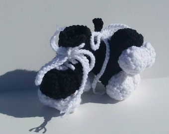 Roller Derby Booties, Roller Skates, Roller Skate Booties, Black and white