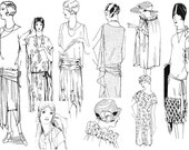 Ruth Wyeth Spears Sewing Collection Flapper Style Embellishments and Dress Instructions from the 1920s - Downloadable PDF