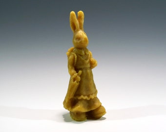 Beeswax Mama Rabbit with Basket of Eggs