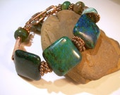 Forest Night - Gemstone And Copper Bracelet
