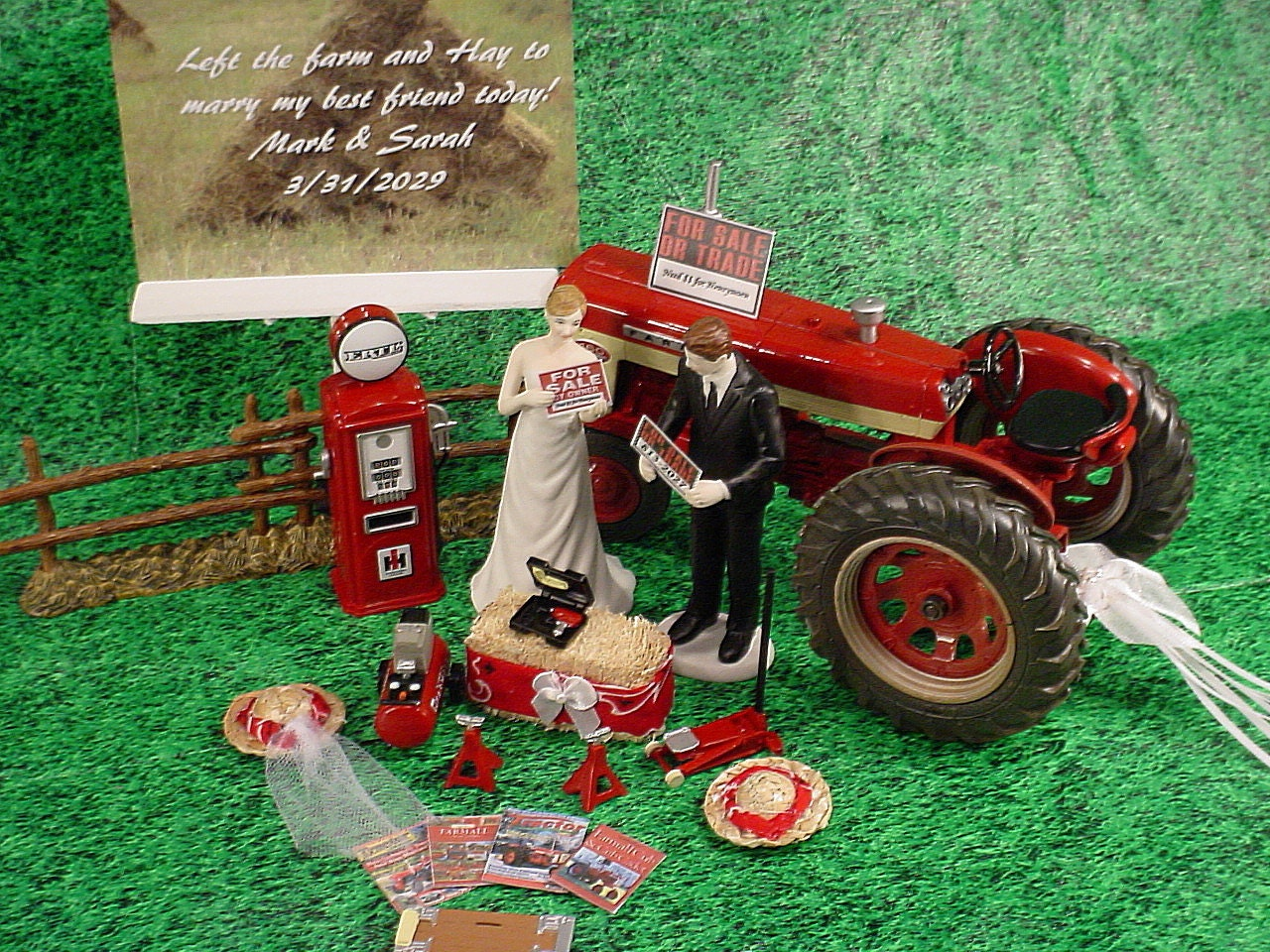 international tractor wedding cake topper mr mrs international harvester tractor 16467