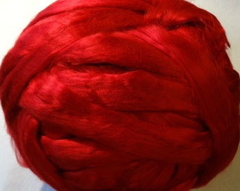 Bamboo Top - Egyptian Red Bamboo Roving - Red Bamboo Roving - 4oz