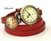 Poppy Field Wristwatch Leather