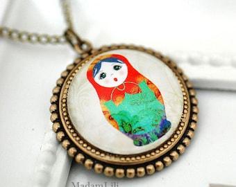 Matrjoshka Vintage Necklace