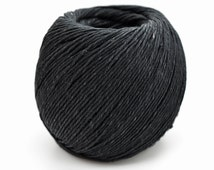 Black Hemp 1mm, 430 Feet,  Hemp Jewellery Twine, Dyed Hemp, Black Twine -T73