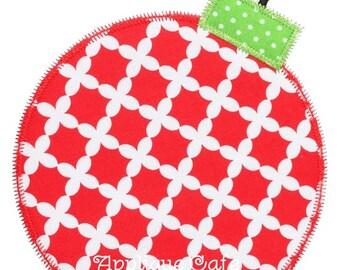 706 Zig Zag Christmas Ornament Machine Embroidery Applique Design
