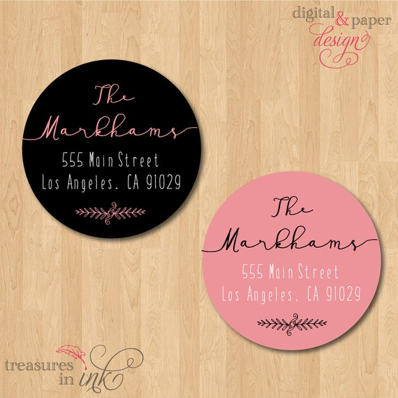 Fun Calligraphy Address Labels Chic Hand Written Name