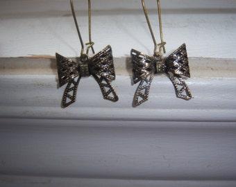 Bow Earrings - Filigree Bow Earrings