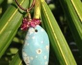 Handmade Leland Blue Stone Necklace FREE Shipping