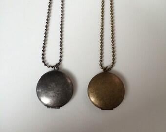 Round Locket Necklaces
