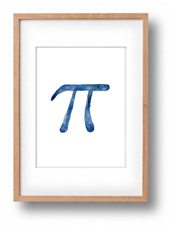 Pi Art Print Pi Sign Print Pi Day Mathematical By