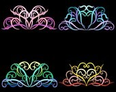 FANCIFUL BORDERS -- 30 Machine Embroidery Design Pack (AzEB)