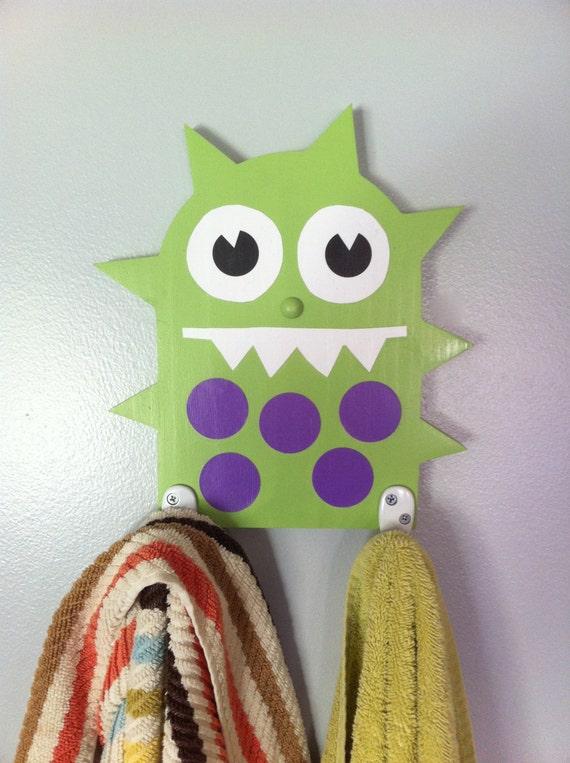 Like this item. Monster towel rack kid s bathroom decor children s