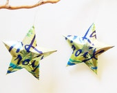 La Croix Lime Sparkling Water Stars, Christmas Ornaments, Aluminum Can Upcycled