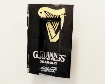Shrine to Guinness, Wall Mounted Sculpture Nicho, Niche Tiny Shadowbox, Miniaturem, Black Gold