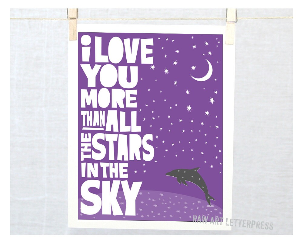 Wall Art Love You More : Wall art i love you more than all the stars by