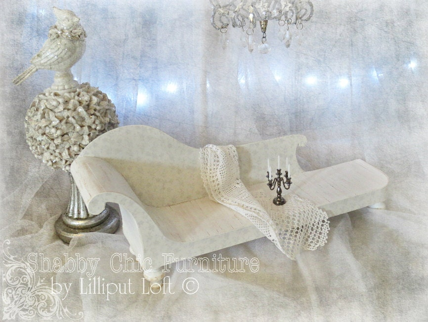 miniature chaise lounge 39 felicity 39 shabby chic. Black Bedroom Furniture Sets. Home Design Ideas