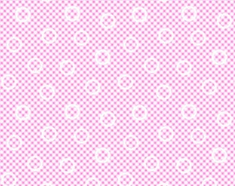 Pam Kitty Garden LH140013PETUN Lakehouse Dry Goods Cotton Fabric Petunia Mini Gingham
