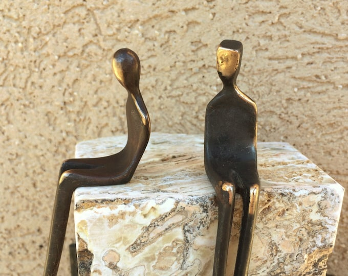 SOULMATES Small Finely Crafted Sculpture with Black Patina and bronze highlights