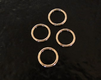 4 Pcs 8.5mm Circle Link, Connector 14K Gold Filled, MADE IN USA