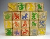 Playskool Disney Alphabet ABC Wooden Blocks, Set of (19), Disneyland by Halsam, Disneyana