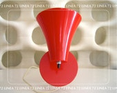 Mid Century Red Plastic Wall Sconce Cone Lamp