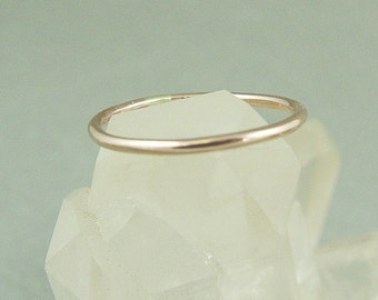 Gold Skinny Ring / Gold Filled Stacking Ring / Wedding Ring / Stacked Thumb Ring / Wedding Sale / Yellow or Rose Gold