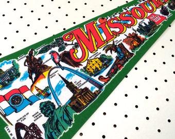 Vintage Missouri Souvenir Felt Pennant (1980s)