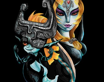 Twilight Princess Inspired Midna Fine Art Limited Edition Print Legend of Zelda Nintendo Artwork pop Art