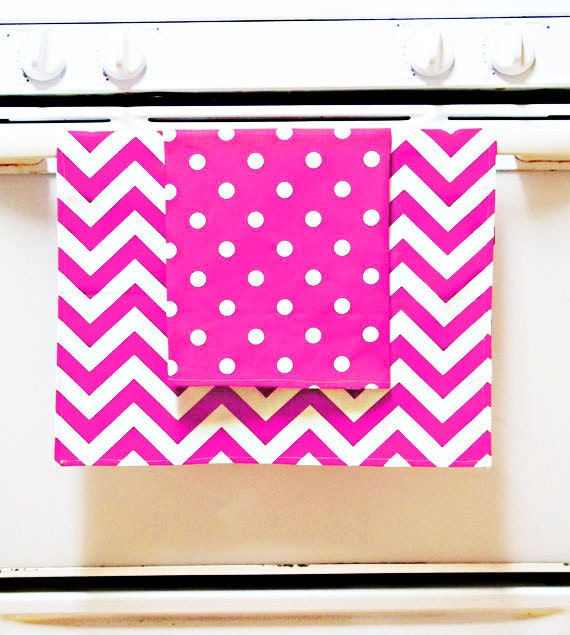 Teacher Gift, Hostess Gifts, 2 pack dish towels, back to school gift for teacher, Pick and choose, chevrons, stripes, polka dots,