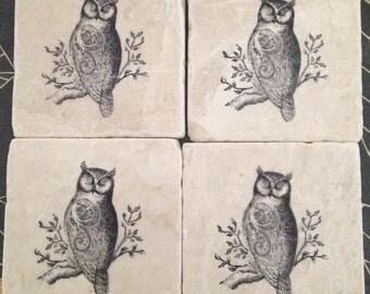 Owl Coasters (set of 4)