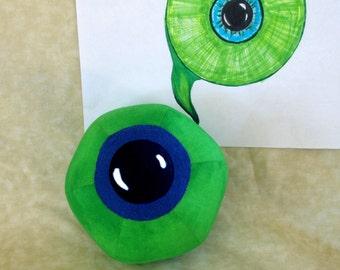 """Limited Quantity, Jack Septic Eye Plushie!  5.5"""" Round Plush Ball/Toy. jacksepticeye Youtuber, Cotton Fabric."""