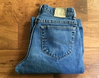 Vintage Men's 80's Lee, Jeans, Blue, Relaxed Fit, Denim (29 x 30)