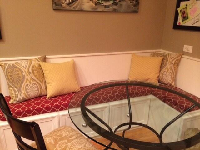 Custom Sewn Kitchen Banquette Cushion Playroom Nursery