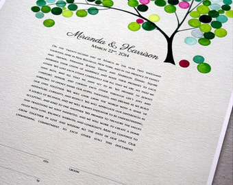 English Ketubah Print - Ketubah English Only - Love Birds personalized Ketubah, abstract Tree of Life and Love Birds Ketubah