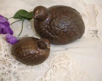 Vintage Ceramic Bird Fiqurines Vintage Home Decor Vintage Collectibles Brown Birds