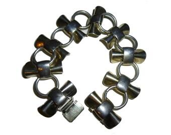 Modernist Sterling Silver Napier Bracelet. 1950s. USA