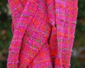 Handwoven Cotton and Rayon Scarf