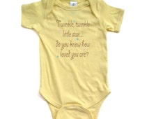 Cute Unisex Twinkle Little Star Do You Know How Loved You Are Nursery Rhyme Short Sleeve Baby Bodysuit Adorable Gift Idea New Baby Shower