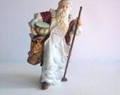 St. Nicholas Porcelain Figurine Christmas Decor Vintage Santa Claus