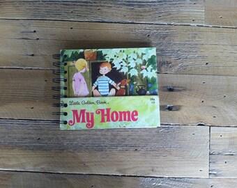 "vintage little golden book, ""my home"", notebook"