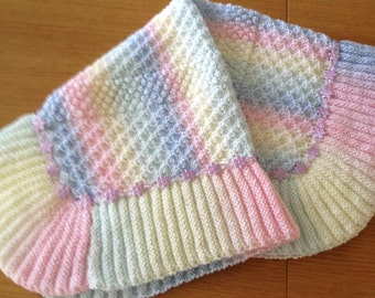 Rainbow Dust baby blanket knitting pattern